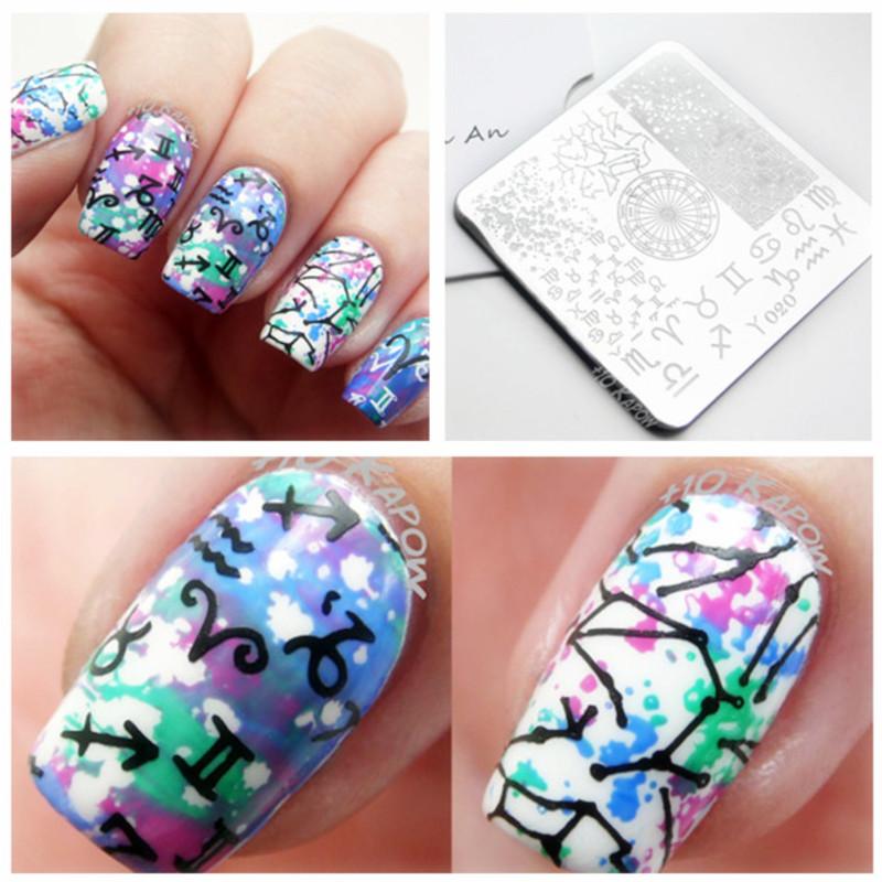 Amazing Zodiac Stamping Mani  nail art by Born Pretty