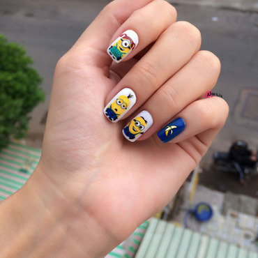 He asked me out for Minions :P nail art by YenNarcis