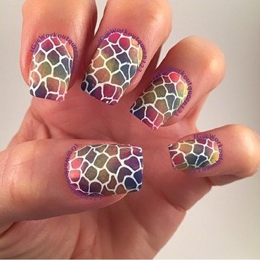 A Mosaic Rainbow nail art by Workoutqueen123
