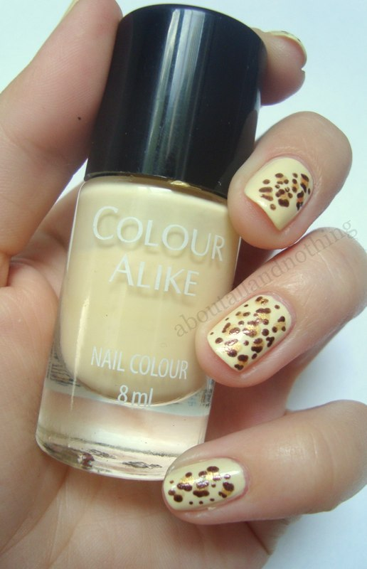 Just animal print nail art by Kasia