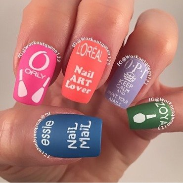 Nail Polish nail art by Workoutqueen123