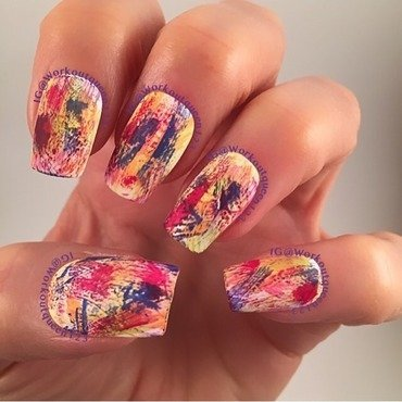 Dry Brushing nail art by Workoutqueen123
