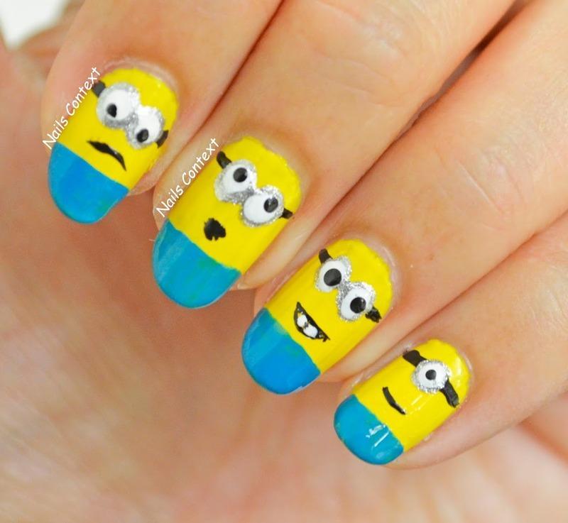 MINIONS nail art by NailsContext