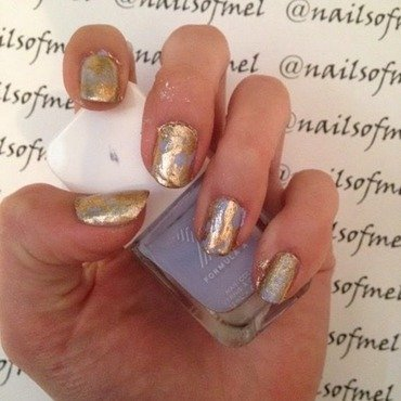 Gold'n 'Dream nail art by Nailsofmel