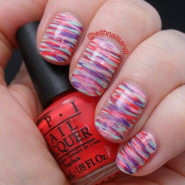 Mixed Fanbrush nail art by WithnailsandI