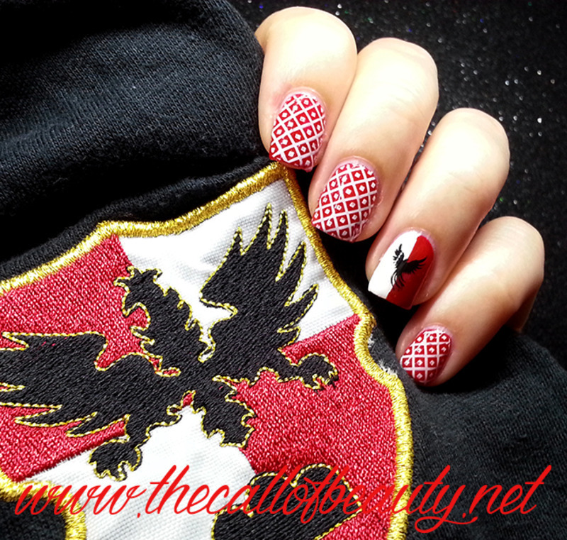 My Team is Piazzarola - Quintana di Ascoli Piceno nail art by The Call of Beauty