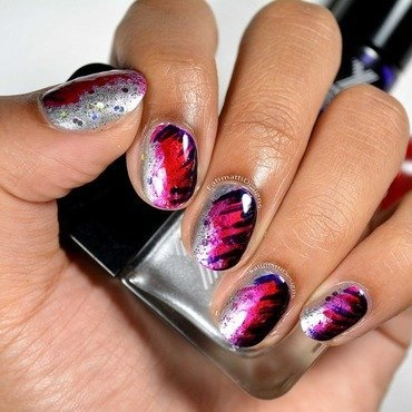 Punk Inspired nail art by Fatimah