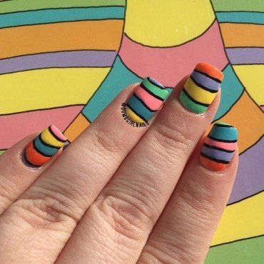 Oh, The Places You'll Go! nail art by Michelle