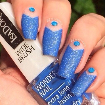 Matte blue 💙 nail art by Virginia