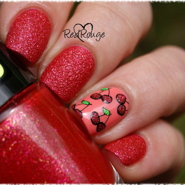 Sweet Cherry nail art by RedRouge