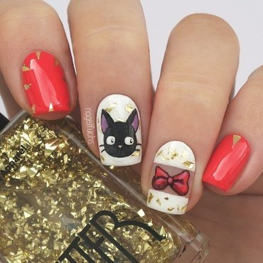 Kiki's Delivery Service nail art by nagelfuchs