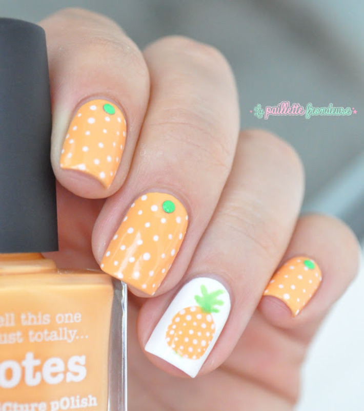 pineapple nails nail art by nathalie lapaillettefrondeuse - Pineapple Nails Nail Art By Nathalie Lapaillettefrondeuse