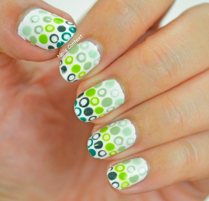 GO Green  nail art by NailsContext