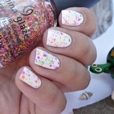 China Glaze Snow and China Glaze Point Me To The Party Swatch by Romana