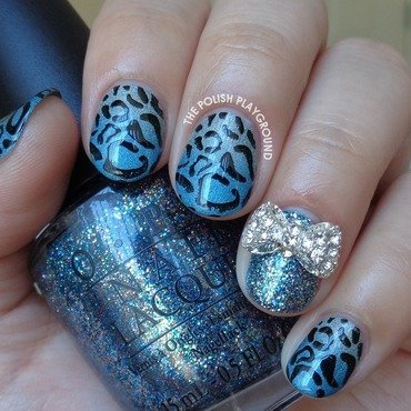 Green 20and 20blue 20holo 20gradient 20with 20leopard 20print 20stamping 20nail 20art thumb370f