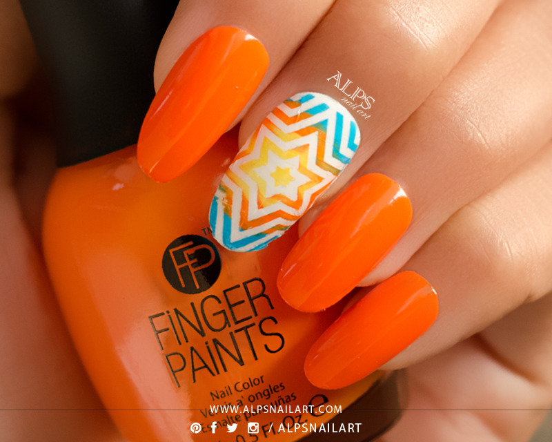 Finger Paints Nail Color Tie Dye Tangerine Swatch by Alpsnailart ...
