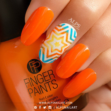 Finger paints tie dye orange thumb370f