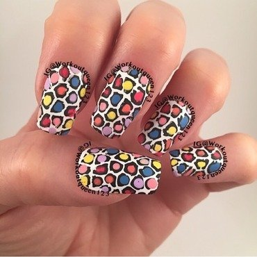 Animal Print nail art by Workoutqueen123