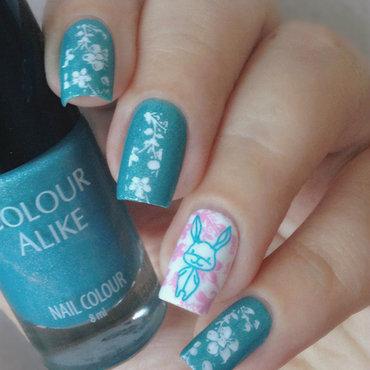 Bunny Nails nail art by Natasha