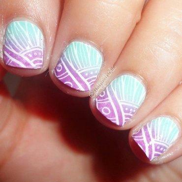 BP-31 Stamping Plate nail art by Melany Antelo