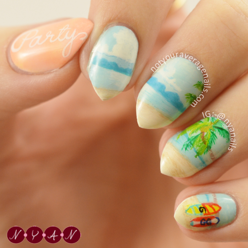 Party nail art by Becca (nyanails)