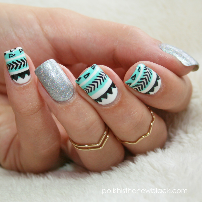 Tribal Nail Art  nail art by Polishisthenewblack