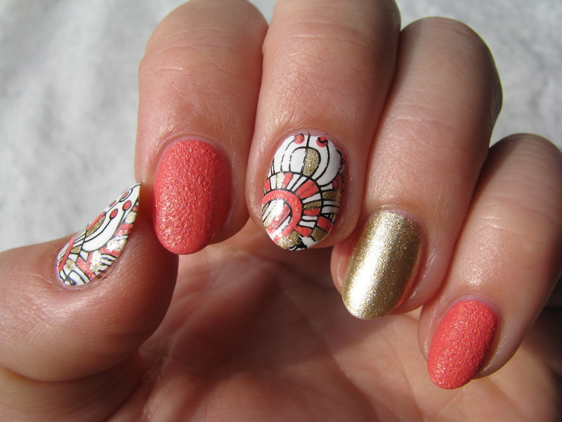 BP-52 Mix nail art by Nail Crazinesss