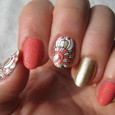 BP-52 Mix nail art by Nail Crazinesss
