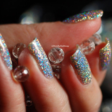 diamonds are forever nail art by Dorothy NailAssay