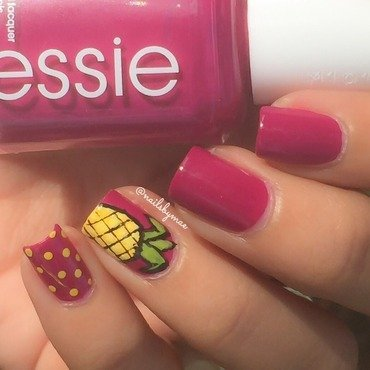 Pineapple Nail Art nail art by Sheily (NailsByMae)