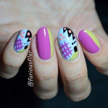 Bonkers nail art by Furious Filer