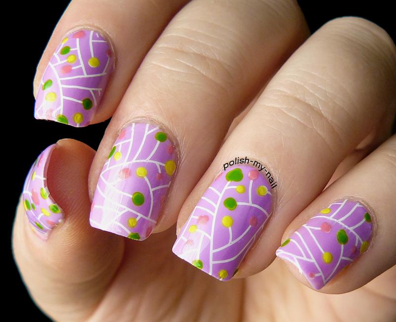 Colorful dots  nail art by Ewlyn