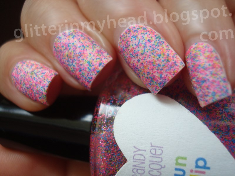 Neon dots nail art by The Wonderful Pinkness