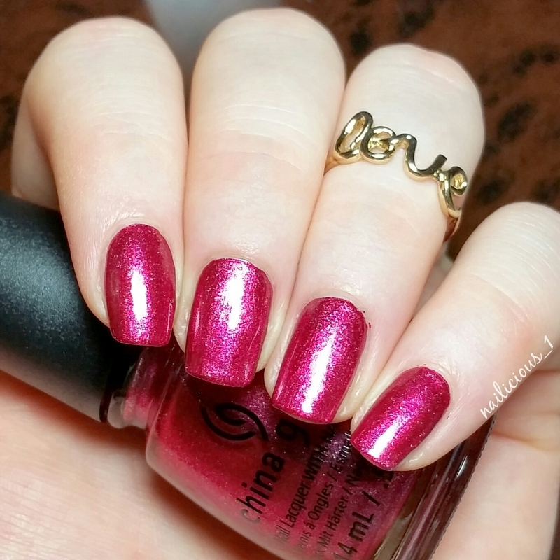 China Glaze Santa red my list Swatch by nailicious_1