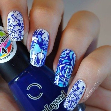 Porcelain Nails - Stamping Master nail art by Love Nails Etc