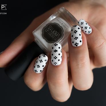 Black & White & Dotting Tool nail art by Kate C.