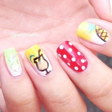 Pineapple Daquiri nail art by ℐustine