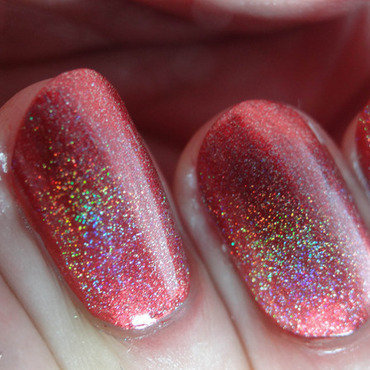 Smokey Mountain Lacquers Holo Top Coat Swatch by Virginie