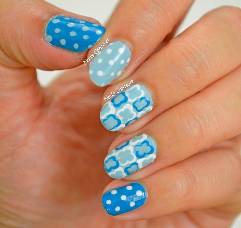 Blue Nails nail art by NailsContext