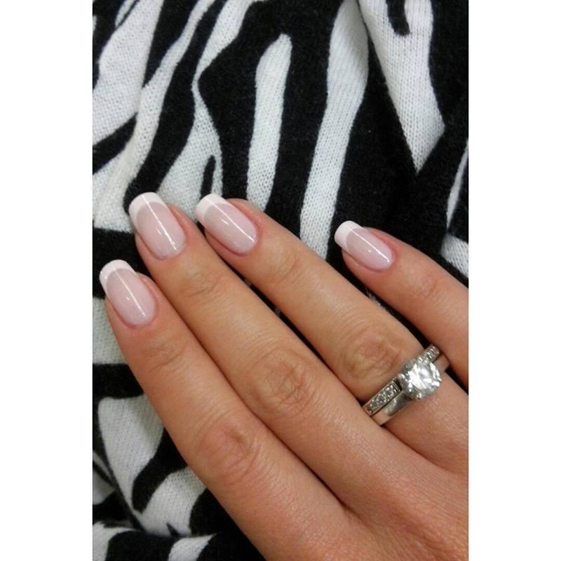 French maniicure. nail art by Paula215. NAILS