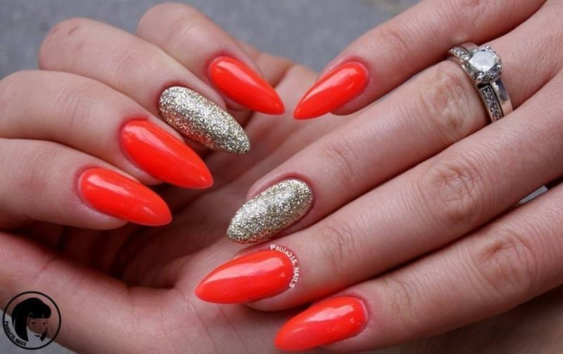 Neon nail art by Paula215. NAILS