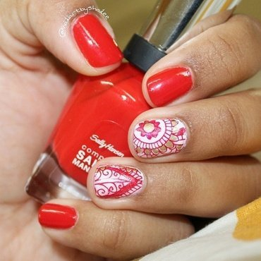 Indian wedding nails nail art by Shailee