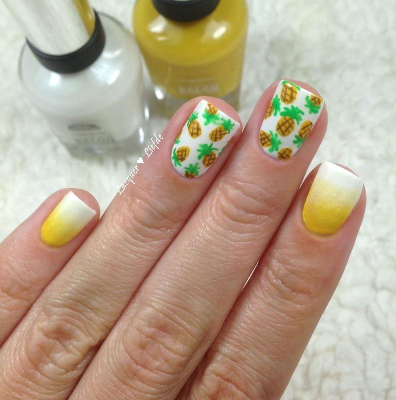 Pineapple Nails nail art by Anna