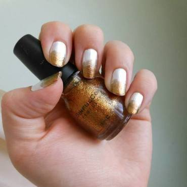 Gold Gradients nail art by Cecilia Brown