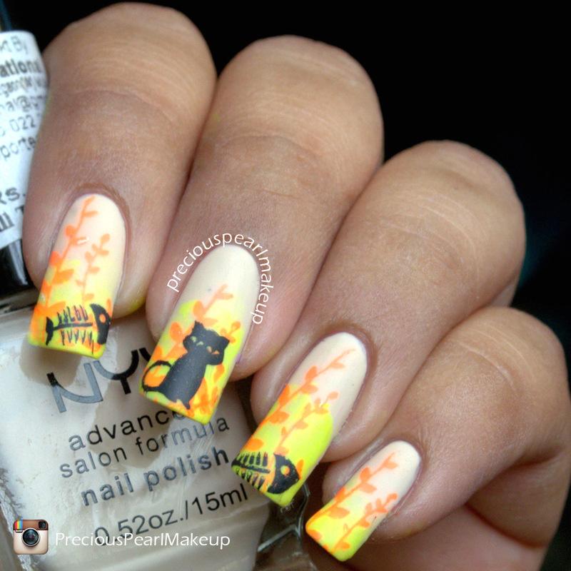 Cat Nails nail art by Pearl P.