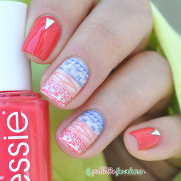summer aztec  nail art by nathalie lapaillettefrondeuse