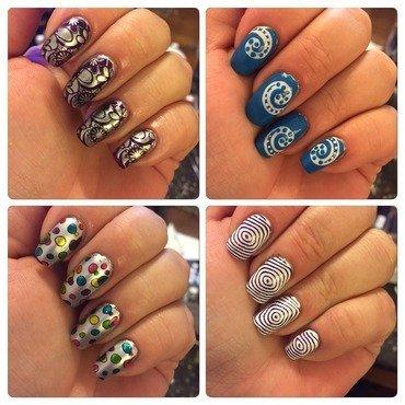 Variety of manis nail art by crazyfishgirl