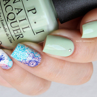 Gargantuan Green Grape nail art by Mary Monkett