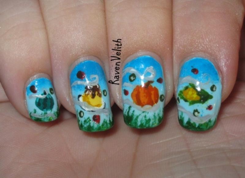 Kirby's Feast pt. 2 nail art by Lynni V.