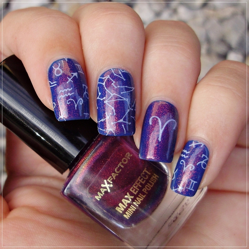 Zodiac nails nail art by Sanela